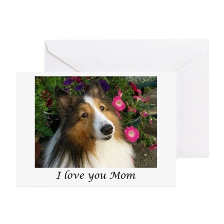 I love you Mom Greeting Cards (Pk of 10)