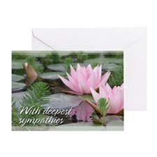 Pink Lotusflower Sympathy Card 5x7