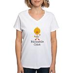 Bibliophile Chick Women's V-Neck T-Shirt