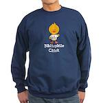 Bibliophile Chick Sweatshirt (dark)