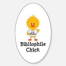Bibliophile Chick Decal