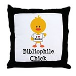 Bibliophile Chick Throw Pillow
