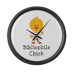 Bibliophile Chick Large Wall Clock
