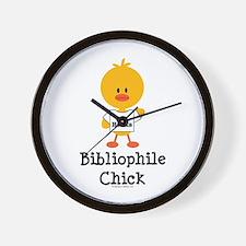 Bibliophile Chick Wall Clock
