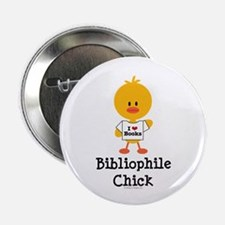 "Bibliophile Chick 2.25"" Button (10 pack)"