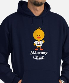 Attorney Chick Lawyer Hoodie