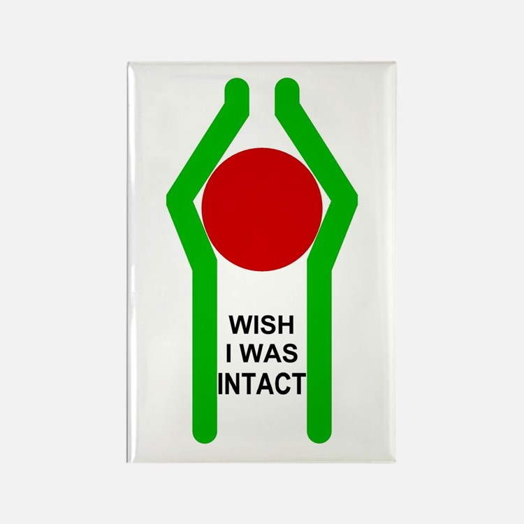 Wish I was Intact Rectangle Magnet