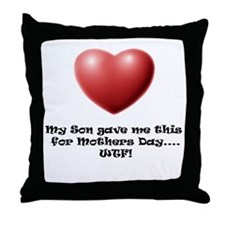 WTF! from Son Throw Pillow