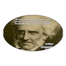 Arthur Schopenhauer Oval Decal