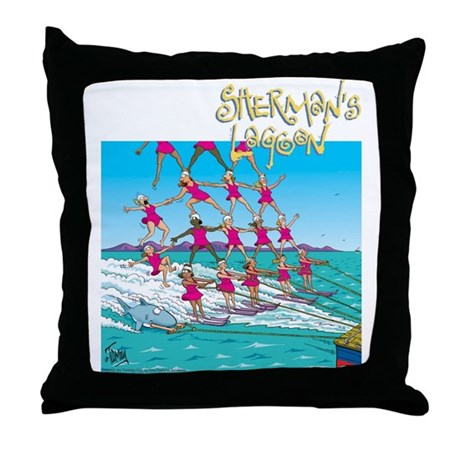 Waterskiing Throw Pillow