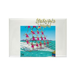 Waterskiing Rectangle Magnet