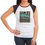 Postcard Greetings Women's Cap Sleeve T-Shirt