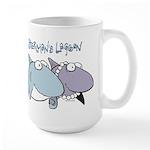 Sherman & Megan with Logo Large Mug