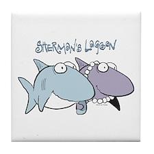 Sherman & Megan with Logo Tile Coaster