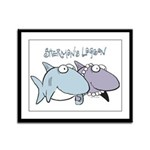 Sherman & Megan with Logo Framed Panel Print