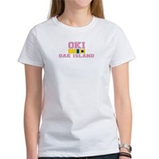 Oak Island NC - Nautical Flags Design Tee