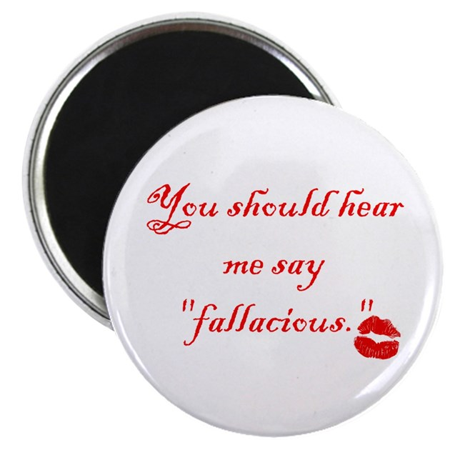 """Fallacious"" Magnet by crithits"