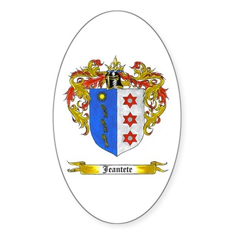 Jeantete Shield Sticker (Oval)