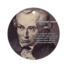Kant Moral Law: Ornament (Round)