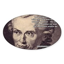 Kant Moral Law: Oval Decal