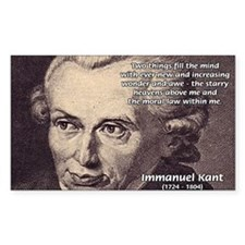 Kant Moral Law: Rectangle Decal