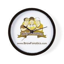 BrewFanatics Logo Wall Clock