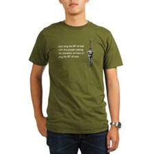 BP Oil Leak Plug Organic Men's T-Shirt (dark)