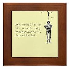 BP Oil Leak Plug Framed Tile