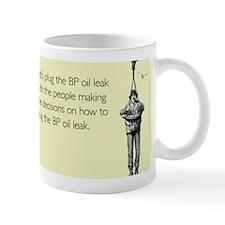 BP Oil Leak Plug Mug