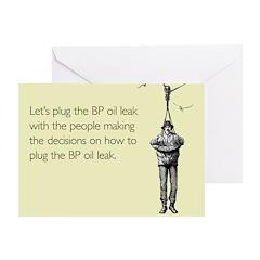 BP Oil Leak Plug Greeting Card
