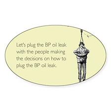 BP Oil Leak Plug Sticker (Oval)