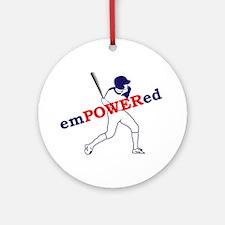 Empowered Baseball Ornament (Round)