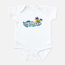Oak Island NC - Surf Design Infant Bodysuit