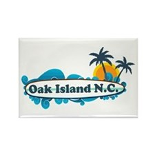 Oak Island NC - Surf Design Rectangle Magnet