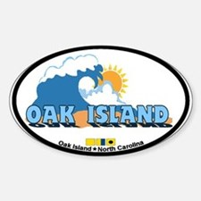 Oak Island NC - Waves Design Decal