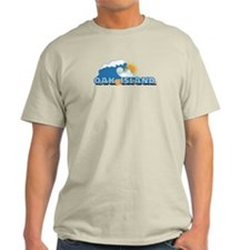 Oak Island NC - Waves Design T-Shirt