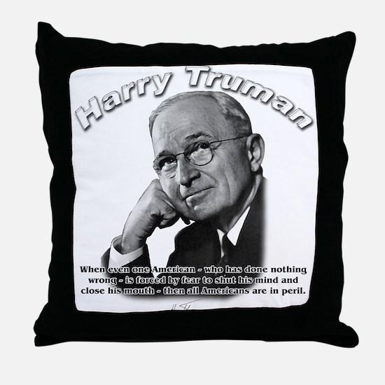 Harry Truman 03 Throw Pillow