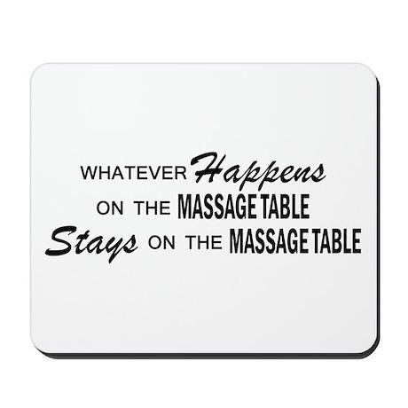 Whatever Happens - Massage Table Mousepad