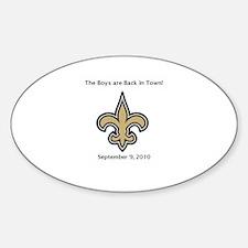 Fleur de Lis / Saints Sticker (Oval)