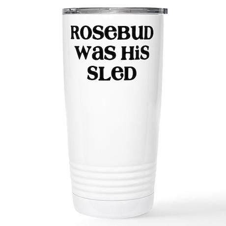 Rosebud Stainless Steel Travel Mug