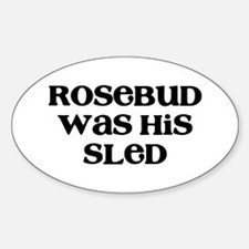 Rosebud Sticker (Oval)