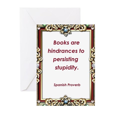 Persisting Stupidity Greeting Cards (Pk of 10)