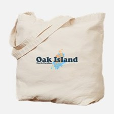 Oak Island NC - Seashells Design Tote Bag