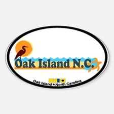 Oak Island NC - Beach Design Decal