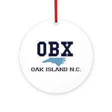 Oak Island NC - Map Design Ornament (Round)