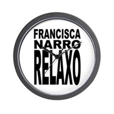 Latin Frankie Say Relax Wall Clock