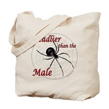 Deadlier than the male, spider Tote Bag