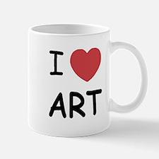 I heart art Mug