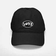 Love Paw Black Oval Baseball Hat