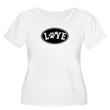 Love Paw Black Oval T-Shirt